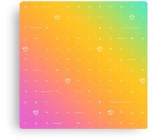 buffy big bads: rainbow pastel Canvas Print