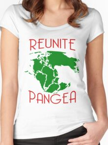 Funny Reunite Pangea Women's Fitted Scoop T-Shirt