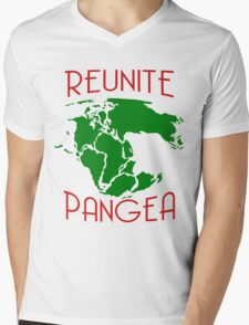 Funny Reunite Pangea Mens V-Neck T-Shirt