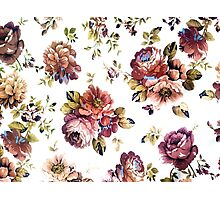 flowers vector pattern Photographic Print