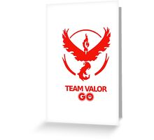 Valor GO Greeting Card