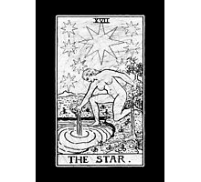 The Star Tarot Card - Major Arcana - fortune telling - occult Photographic Print