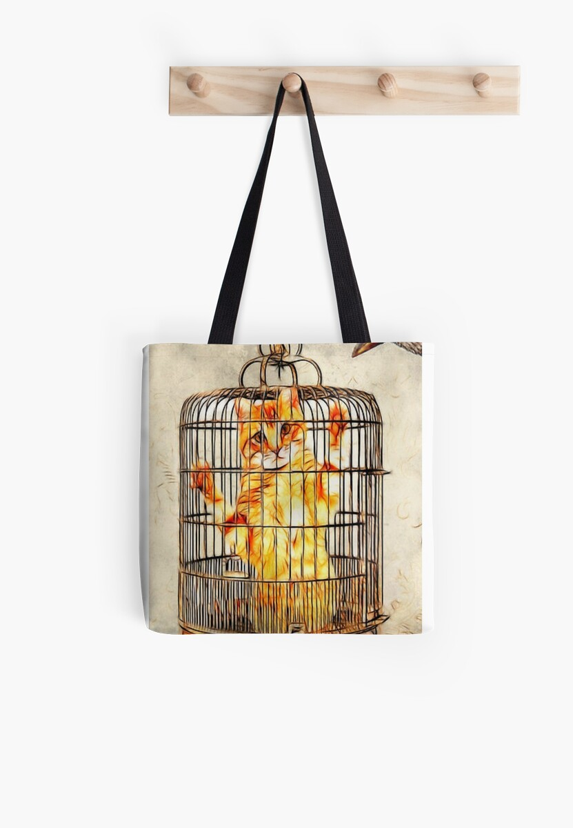 Cat Cage Tote by SuddenJim