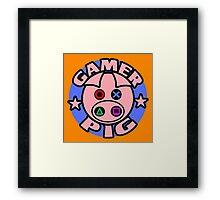 GAMER PIG Framed Print