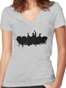 MST3K - Splatter Women's Fitted V-Neck T-Shirt