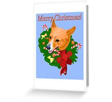 Merry Corgi Christmas Greeting Card