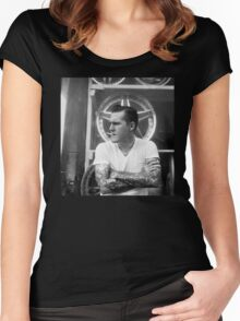 Brian Fallon Black & White Women's Fitted Scoop T-Shirt