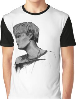 Min Yoongi Grey-scale sketch Graphic T-Shirt