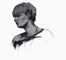 Min Yoongi Grey-scale sketch One Piece - Short Sleeve