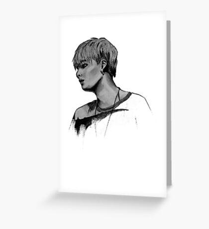 Min Yoongi Grey-scale sketch Greeting Card