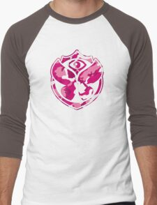 Tomorrowland Camouflage logo - Pink Men's Baseball ¾ T-Shirt