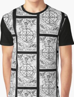 Wheel of Fortune Tarot Card - Major Arcana - fortune telling - occult Graphic T-Shirt