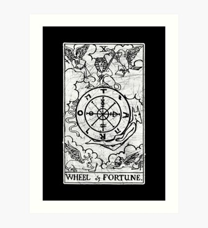 Wheel of Fortune Tarot Card - Major Arcana - fortune telling - occult Art Print