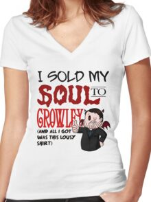 I Sold My Soul to Crowley... Women's Fitted V-Neck T-Shirt