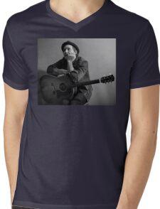 Brian Fallon Black & White 2 Mens V-Neck T-Shirt