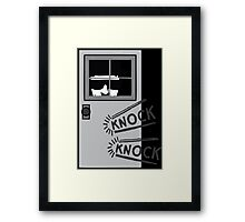 The One Who Knocks Framed Print