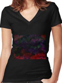 Darker Colour Women's Fitted V-Neck T-Shirt