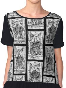 Justice Tarot Card - Major Arcana - Fortune Telling - Occult Chiffon Top