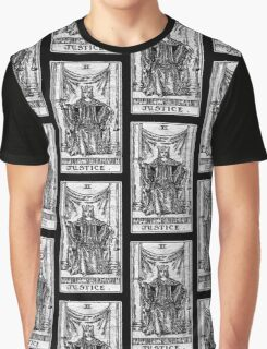 Justice Tarot Card - Major Arcana - Fortune Telling - Occult Graphic T-Shirt
