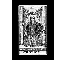 Justice Tarot Card - Major Arcana - Fortune Telling - Occult Photographic Print