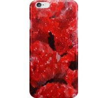Red Raspberries Kitchen Decor Fruit Acrylic Contemporary Painting iPhone Case/Skin