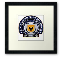Gotham City Police Department Framed Print