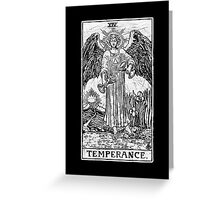 Temperance Tarot Card - Major Arcana - fortune telling - occult Greeting Card