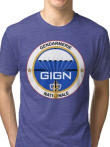GIGN France Special Forces Tri-blend T-Shirt