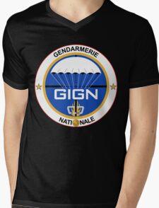 GIGN France Special Forces Mens V-Neck T-Shirt