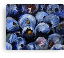 Blueberries Kitchen Decor Fruit Acrylic Contemporary Painting Canvas Print