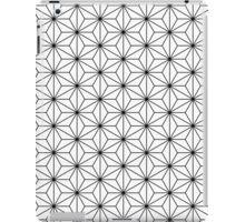Monochrome hemp seed pattern iPad Case/Skin