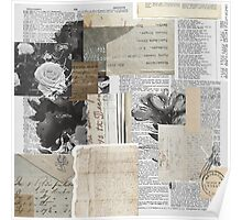 Shabby Chic Vintage Collage Poster