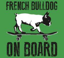 French Bulldog on Board Kids Tee