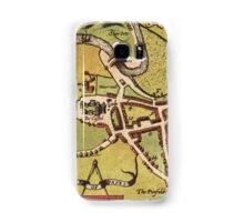 Lancaster Vintage map.Geography Great Britain ,city view,building,political,Lithography,historical fashion,geo design,Cartography,Country,Science,history,urban Samsung Galaxy Case/Skin