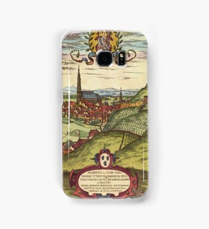Landshut Vintage map.Geography Germany ,city view,building,political,Lithography,historical fashion,geo design,Cartography,Country,Science,history,urban Samsung Galaxy Case/Skin