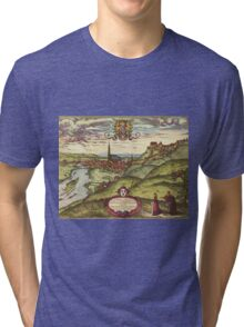 Landshut Vintage map.Geography Germany ,city view,building,political,Lithography,historical fashion,geo design,Cartography,Country,Science,history,urban Tri-blend T-Shirt