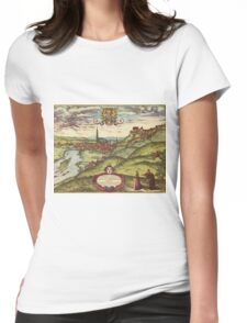 Landshut Vintage map.Geography Germany ,city view,building,political,Lithography,historical fashion,geo design,Cartography,Country,Science,history,urban Womens Fitted T-Shirt