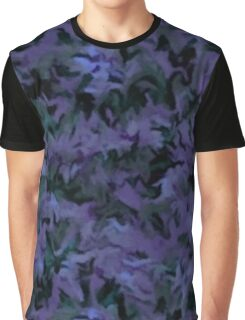 Retro Abstract Charcoal Amethyst Graphic T-Shirt