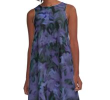 Retro Abstract Charcoal Amethyst A-Line Dress