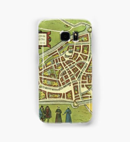 Leeuwaerden Vintage map.Geography Netherlands ,city view,building,political,Lithography,historical fashion,geo design,Cartography,Country,Science,history,urban Samsung Galaxy Case/Skin