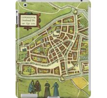 Leeuwaerden Vintage map.Geography Netherlands ,city view,building,political,Lithography,historical fashion,geo design,Cartography,Country,Science,history,urban iPad Case/Skin