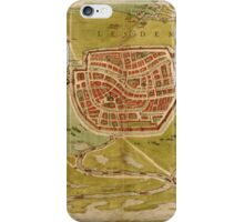 Leiden Vintage map.Geography Netherlands ,city view,building,political,Lithography,historical fashion,geo design,Cartography,Country,Science,history,urban iPhone Case/Skin