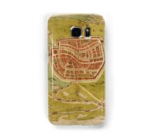 Leiden Vintage map.Geography Netherlands ,city view,building,political,Lithography,historical fashion,geo design,Cartography,Country,Science,history,urban Samsung Galaxy Case/Skin