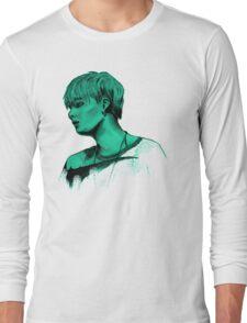 Min Yoongi mint sketch Long Sleeve T-Shirt