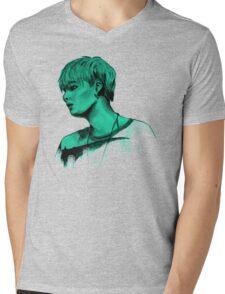 Min Yoongi mint sketch Mens V-Neck T-Shirt