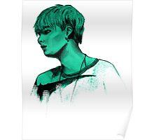 Min Yoongi mint sketch Poster
