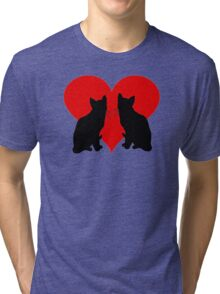 Cats with heart Tri-blend T-Shirt