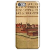 Leipzig Vintage map.Geography Germany ,city view,building,political,Lithography,historical fashion,geo design,Cartography,Country,Science,history,urban iPhone Case/Skin