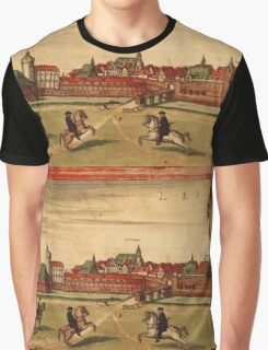 Leipzig Vintage map.Geography Germany ,city view,building,political,Lithography,historical fashion,geo design,Cartography,Country,Science,history,urban Graphic T-Shirt