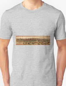 Leuven Vintage map.Geography Belgium ,city view,building,political,Lithography,historical fashion,geo design,Cartography,Country,Science,history,urban Unisex T-Shirt